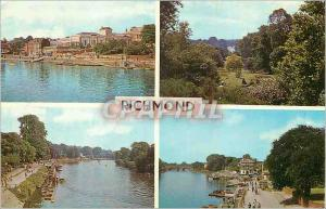 Moderne Karte Richmond view from the Bridge The Thames View from the Terrace the Promenade and River Thames
