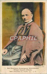 Ansichtskarte AK Son Excellence Monseigneur Beaussart Eveque Titulaire d'Elatee Sacre a Notre Dame le 9 Oct 1935