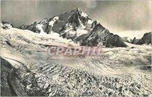 Moderne Karte Massif du Mont Blanc L'Aiguille du Chardonnet (3824 m) et le Glacier du Tour