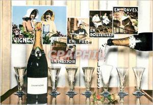 Moderne Karte Souvenir Champenois Champagne