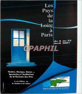 Moderne Karte Theatre Musique Danse Spectacles a L'Auditorium de St Germain des Pres Les Pays de la Loire a Pa