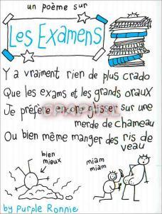 Moderne Karte Un Poeme sur les Examens Y a Vraiment rien de plus Crado Que les Examens