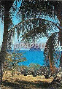 Moderne Karte Martinique le Diamant sous les Palmiers