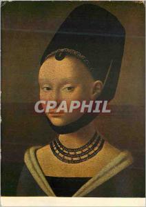 Moderne Karte Musee de Berlin (Ecole des Anciens Pays Bas) Petrus Christus (1472) Portrait de Jeune Fille