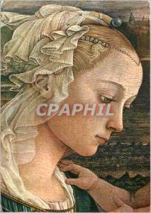 Moderne Karte Firenze Galleria Uffizi La Sainte Vierge au adore l'Enfant (detail)