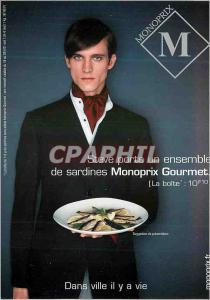 Moderne Karte Steve Porte un Ensemble de Sardines Monoprix Gourmet Dans Ville il y a Vie