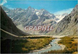 Moderne Karte Masif de l'Oisans le Glacier Noir et le Glacier Blanc vus de Cezanne