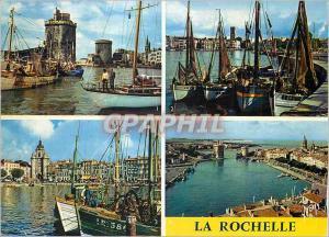 Moderne Karte La Rochelle (Char Mar) Couleurs et Lumiere de France l'Entree du Vieux Port Bateaux de peche