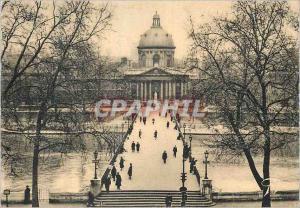 Moderne Karte Paris et ses Merveilles le Pont des Arts et l'Institut