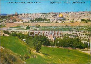 Moderne Karte Jerusalem vue du Mont des Olivier le Jardin de Gethsemani et la Porte Doree