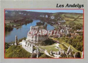 Moderne Karte Les Andelys (Eure) Chateau Gaillard et la Seine