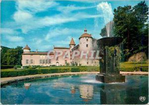 Moderne Karte Chateau de la Batisse a Chanonat (Puy de Dome) le Miroir d'Eau