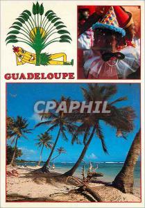 Moderne Karte Guadeloupe Antilles French West Indies la Plage des Raisins Clairs a St Francois