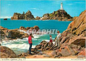 Moderne Karte Jersey CI La Corbiere Lighthouse