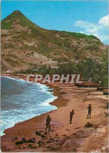 Moderne Karte Martinique La Petite Anse du Diamant Petite Anse a Fisher Village
