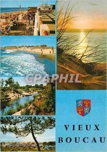 Moderne Karte Vieux Boucau Port d'Albret (Landes) La Plage vue d'ensemble
