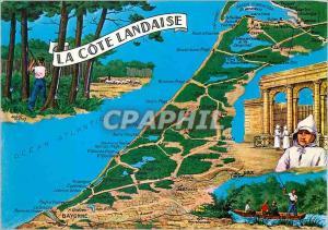 Moderne Karte La Cote Landaise