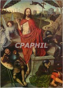 Moderne Karte Musee du Louvre La Resurrection du Christ Hans Memling