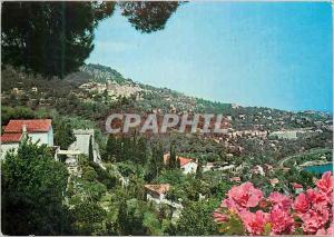 Moderne Karte Roquebrune Cote d'Azur Panorama Village Medieval