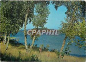 Moderne Karte Le Lac des Settons (Nievre) Le Morvan Touristique Le Lac a une superficie de 360 ha Une Contenan