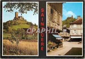 Moderne Karte Saint Cere (Le Lot) Terre des Merveilles Les Tours de Saint Laurent La Place du Mercadil