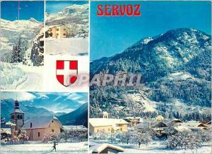 Moderne Karte Servoz (Hte Savoie)
