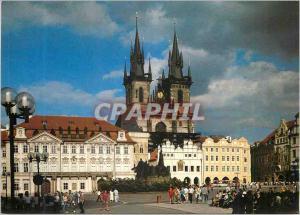 Moderne Karte Praha Le Cote Est de la Place est Domine par deux Tours de la Cathedrale de Tyn (Traveaux de Con
