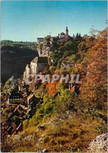 Moderne Karte Rocamadour Le Lot Terre des Merveilles Lieu de Pelerinage Celebre des le Moyen Age Le Chateau