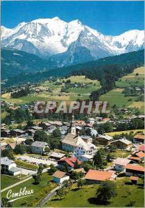 Moderne Karte Combloux Hte Savoie (alt 986 m) Au Pays du Mont Blanc Vue Generale en Fond Le Massif du Mont Bla