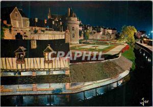 Moderne Karte Vannes (Morbihan) La Bretagne en Couleurs Les Remparts et la Tour du connetable Au premier plan