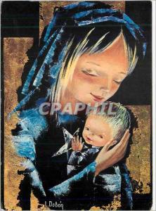 Moderne Karte Vierge Enfant