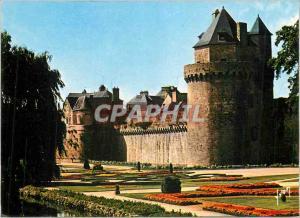 Moderne Karte Vannes (Morbihan) La Bretagne Couleurs et Lumiere de France Les Jardins au Pied des Remparts