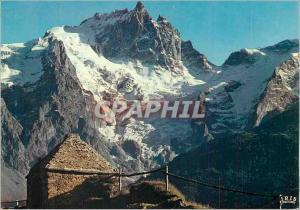 Moderne Karte En Oisans (H A) la Face Nord de la Meije (3974m) et le Glacier du Tabuchet depuis le Chazelet