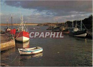 Moderne Karte Sibiril le Port de Peche de Mogueriec la Bretagne en Couleurs Bateaux