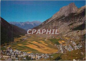 Moderne Karte Images de France Hautes Alpes Le Queyras Vue generale de Ceillac a gauche le vieux village a dro