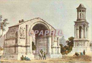 Moderne Karte St Remy de provence Les Antiques Mausolee de Jules et la Porte Monumentale du Glanum