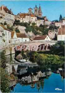 Moderne Karte Semur en Auxois (C d'Or) Le pont sur l'Armancon