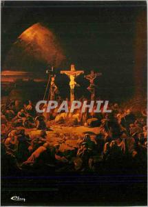 Moderne Karte Chapelle Royale de Dreux (E et L) Glace peinte La Mort du Christ sur la Croix d'apres Gay Christ