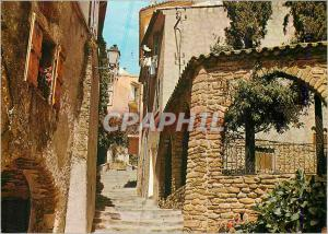 Moderne Karte Bormes les Mimosas (Var) Vieille rue