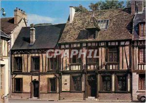 Moderne Karte En Normandie Les Andelys (Eure) Vieille maison pres de l'Eglise St Sauveur