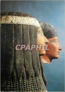 Moderne Karte Paris Musee du Louvre Departement des Antiquites Egyptiennes Le groupe de Sennynefer et de son e