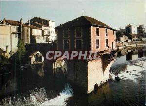 Moderne Karte Millau (Aveyron) Porte des gorges du Tarn Les arches pittoresques d'un pont du XIIe siecle porta