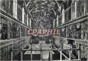 Moderne Karte Citta Del Vaticano Cappella Sistina Interno Sixtine Chapel