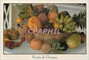 Moderne Karte Fruits de Guyane Bananes cocos ananas et caramboles