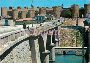 Moderne Karte Avila Puente sobre et Adaja y murallas Pont sur l'Adaja et murailles