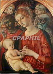 Moderne Karte Firenze Galleria Uttizi Madone avec l'Enfant et Saints