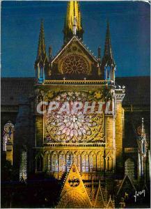 Moderne Karte Paris Notre Dame Les illuminations Son et Lumiere Couleurs et Lumiere de France