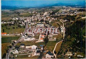 Moderne Karte St Alban sur Limagnole (Lozere) Vue generale aerienne