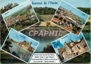 Moderne Karte Souvenir de l'Yonne Joigny Sens Auxerre Avallon