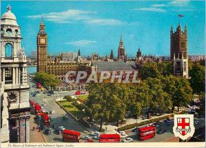Moderne Karte The Houses of Parliament and Parliament Square London Designed by Sir Charles Barry and begun in